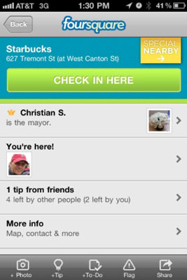 Location-Based Causa Strumenti di marketing: Foursquare